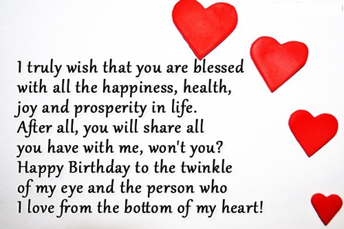 happy birthday for my love wishes and images and pictures