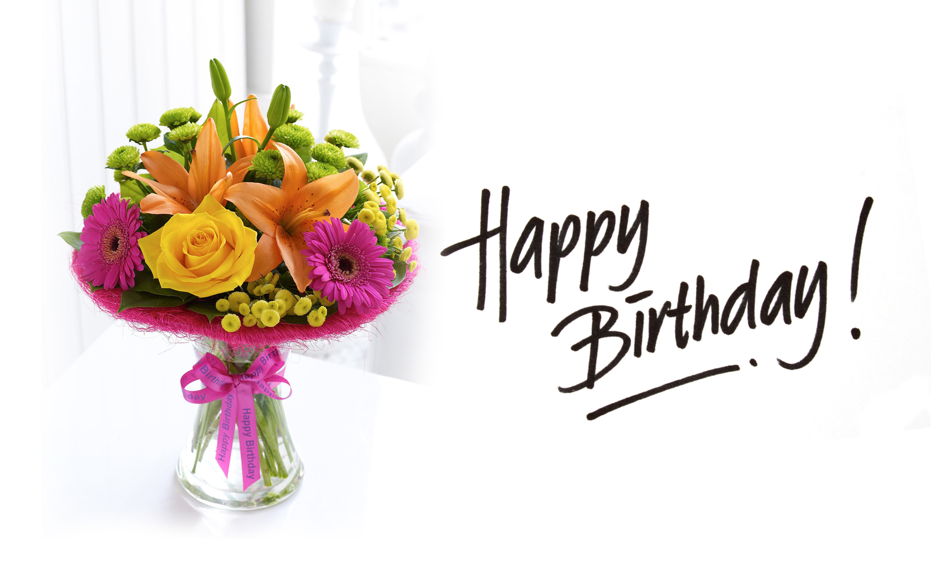 happy birthday flowers for friends and family
