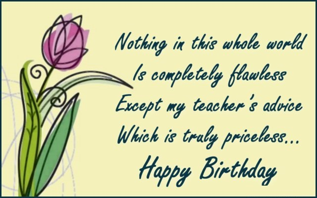 Quotes for teachers birthday wishes messages